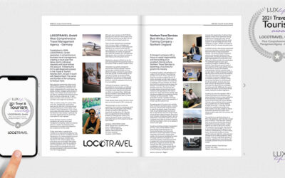 locotravel been rewarded by Lux life magazine travel & tourism Prize 2021